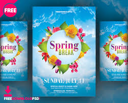 Spring Break Flyer Free Template Freedownloadpsd Com
