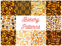 Bakery And Baking Seamless Backgrounds Wallpapers With Vector