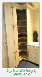 shelfgenie lazy susan shoe storage closet 163x300 jpg