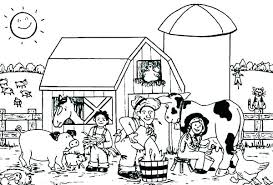 Farm Animals Coloring Page V2648 Smiling Horse Funny Horse Online