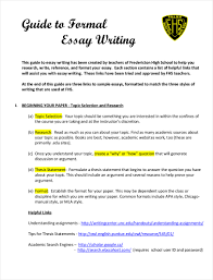 Formal Essay Format High School Coursework Academic Service Report