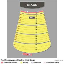 Described Red Rocks Seating Chart With Numbers Jay Pritzker