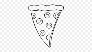 pizza slice clipart black and white. Exellent Clipart Pepperoni Pizza Clipart Black And White  Slice Drawing Png Intended E
