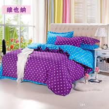 polka dot bedding. Simple Dot Home TextilesPurpleblue Polka Dot Bedding Sets Include Comforter Cover  Bed Sheet Pillowcaselinenbedclothes Cheap  To N