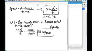 Calculating Speed Video - YouTube