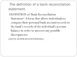 bank reconciliation form slideplayer com 4892838 16 images 4 the definition