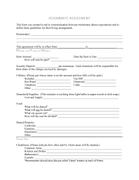Sample Roommate Contract 40 Free Roommate Agreement Templates Forms Word Pdf