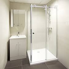 small sliding glass shower doors