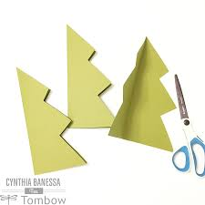 Paper Crafts For Christmas Paper Craft Christmas Tree Tombow Usa Blog