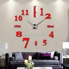 diy large wall clock 3d mirror surface sticker aliexpresscom buy office decoration diy wall