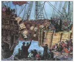 Американская революция годы Новая история Реферат   Бостонское чаепитие начало открытого конфликта американцев и англичан
