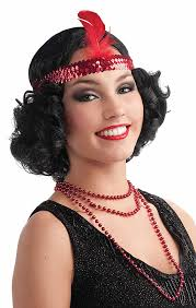 roaring twenties wigs flapper headband 1920s charleston