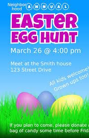 Clipart Easter Egg Hunt Flyer