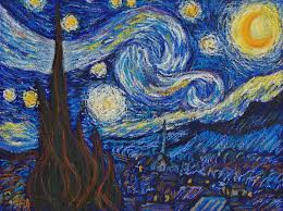 starry night in oil pastels davepuls on deviantart oil pastel art