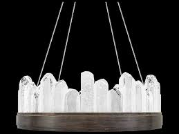 fine art lamps lior patinated bronze with rock crystal glass 12 light 21