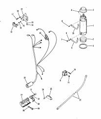 mariner 75 hp 4 cylinder starter motor wiring harness parts engine section