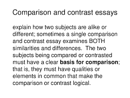 writing comparison contrast  comparison