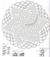 Diagram Crochet Doilies Pattern Besides Crochet Doily