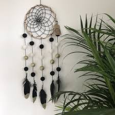 Dream CatchersCom Stone Co Felt Ball Pom Pom And Feather Dream Catcher 67