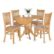 dining set 5 pc wood drop leaf table breakfast nook dinette kitchen furniture charltonhome traditional