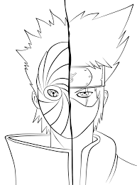 Small Picture Kakashi and Tobi Coloring Pages Ideias para a casa Pinterest