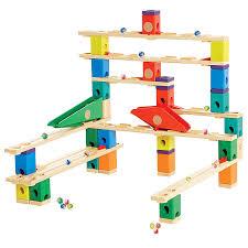 hape quadrilla wooden marble run builder set