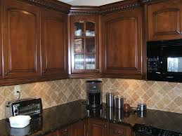 image of wood kitchen cabinets cleand
