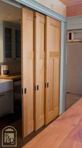 The Bypass Door: This type is usually made of two parts that slide in front