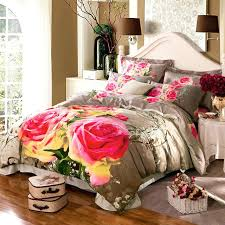 gray and white duvet cover queen fl rose print pink bedding sets size king bed