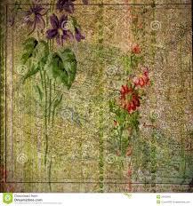 Vintage Floral Print Vintage Floral And Atlas Print Background Stock Photo Image