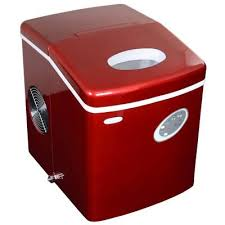 freestanding ice maker in red