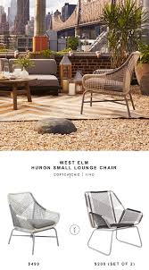 Small Outdoor Lounge Chairs West Elm Huron Large Lounge Chair Copycatchic