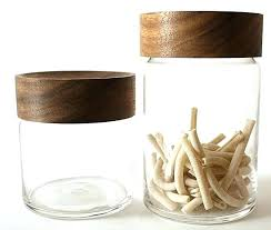 wooden canisters glass with lids jars wood whole storage white canister lid ceramic canis
