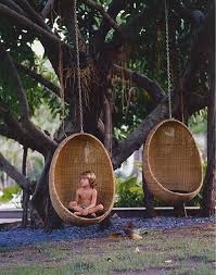 hanging wicker egg chair if only my tree in the garden was big enough for