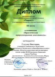 Год экологии Казачья кадетская школа Диплом регионального этапа всероссийского юниорского лесного конкурса