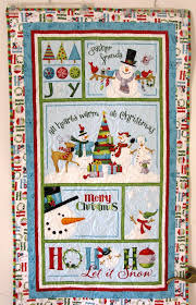 178 best snowman quilts images on Pinterest | Doodles, Felt ... & Snowman Joy Christmas Wall Hanging or Baby Quilt Decoration Wallhanging Adamdwight.com