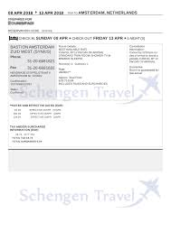 Examples Of An Itinerary Sample Flight Reservation Or Flight Itinerary For Visa