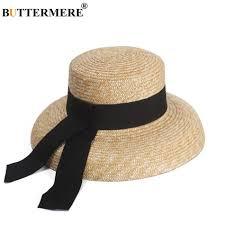 Ladies Designer Sun Visors Us 13 36 55 Off Buttermere Sun Hat Womens Designer Straw Hat Summer Beach Sun Hat Lady French Retro Wide Brim Fashion Brand Female Hat In Womens
