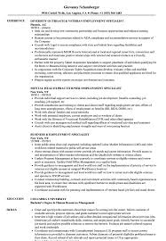 Sample Employment Resume Employment Specialist Resume Samples Velvet Jobs