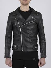 classic leather biker jacket maverick by leather monkeys image three