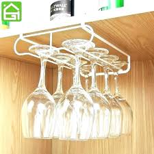 under cabinet stemware racks