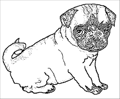 Winsome Design Pug Coloring Pages Dog Cute Coloring Pages