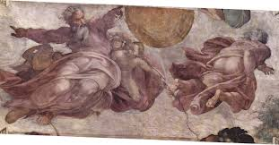 classic michelangelo classic art paitings paintwork sistine chapel creation of the stars and planets masterpiece wallpaper and background
