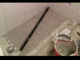 shower with no pan liner no mortar