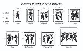 Mattress Size Chart Inches Mattress Size Chart Counting Sheep Research