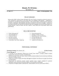 Strong Objective Statements For Resume Magnificent Daniel Strong Resume