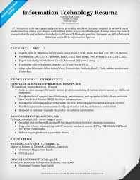 Information Technology It It Skills Resume Cute Resume Format
