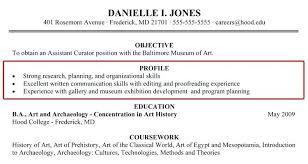 Resume Profile Custom Resume Profile Statement For Students On Example Examples Personal
