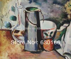 Decorative Pitchers Crossword Cheap Paul Cezanne Painting Water Pitcher and Decanteur Hand Made 7
