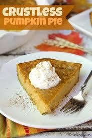 crustless pumpkin pie bitz giggles